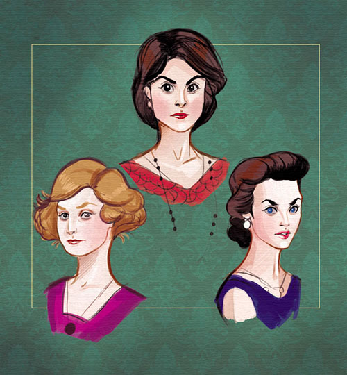 crawleysistersdowntonabbeychrissiezullo by chrissie zullo-d7wnmd3