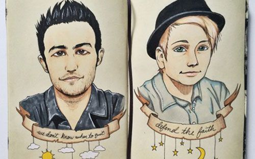 fall out boy fan art for centuries worship the fandom